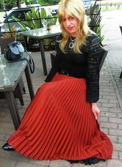 New Inn Found :-) (Amber :-)) Tags: long pleated sunray skirt tgirl transvestite crossdressing
