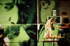 Lo-Fi Four Faces video still (Corbicus Maximus) Tags: finepix lofi londonuk streetartist artist videostill fujifilm mural spraypaint spraycans green bricklane streetart