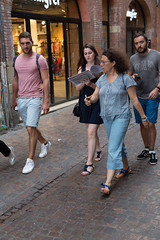 Group in the street (gaillardou) Tags: toulouse portrait rue street photo people walking evening