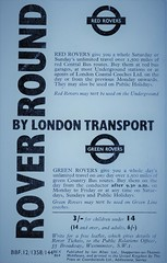 London transport 1964 Red & Green Rover ticket advert. (Ledlon89) Tags: redrover greenrover rovertickets lt lte londontransport bus buses 1963 1964 1960s sixtieslondon bustickets londonbus londonbuses