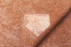 Home plate   Baseball (Achille Abboud) Tags: canon 2470mm 5d m4 sport sports baseball ball play game field pitch plate home american dirt shadow used mlb braves challengers bundesliga landesliga berlin germany tempelhof summer sun sunny