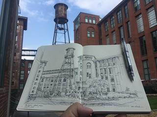 The first sketch in the new dot-pattern Leuchtturm1917. The Stacks Lofts - Atlanta, Georgia