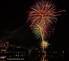 "Fireworks (jimgspokane) Tags: fireworks thedivisionstreetbridge spokanewashingtonstate spokaneriver ""nikonflickraward"" today´sbest"