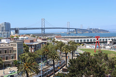 San Francisco - Oakland Bay Bridge (russ david) Tags: san francisco oakland bay bridge ca california architecture att park june 2018 palm trees tram