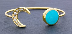 The  Eclipse bracelet (Raintree Vermont) Tags: custom bracelet diamonds turquoise inlay pave crescent moon 14k yellow gold raintree vermont 802 metalsmiths artisan starts lunar luna