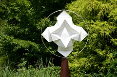 Folded Sculpture (pjpink) Tags: origami sculpture lewisginterbotanicalgarden lewisginterbotanicalgardens lewisginter gardens northside rva richmond virginia june 2018 summer pjpink 2catswithcameras