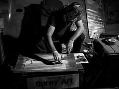 Cet artiste de Spray  Art que vous pouvez retrouver le soir, sur les marchés de nuit, à Canet en Roussillon.  #art #streetart #graffiti #talent #artist #streetphotography #gx80 #nightphotography #canetenroussillon #pyreneesorientales #occitanie (Lexlutin66) Tags: art streetart graffiti talent artist streetphotography gx80 nightphotography canetenroussillon pyreneesorientales occitanie