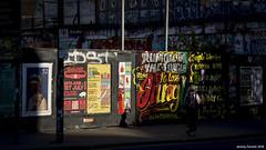 Stokes Croft scenes (zolaczakl) Tags: bristol stokescroft stokescroftscenes lightshadow nikond7200 2018 may photographybyjeremyfennell uk england nikonafsnikkor24120mmf4gedvrlens nikonafsnikkor50mmf18glens posters streetart streetscenes graffiti