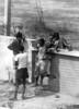 img286 (Höyry Tulivuori) Tags: india 1970 street life people cars monochrome men women child 70s vintage seventies temple city country индия улица чернобелое автомобиль дома народ быт