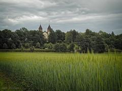 Slagen kirke (Geir Bakken) Tags: church norway vestfold tønsberg field landscape tilt tiltfocus mir1b m43 mirrorless microfourthirds perfectbeauty