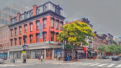 Homage to Anonymous - Arcitect's rendering (fake) , 7th and G Streets NW, Washington DC. (Tim Brown's Pictures) Tags: washingtondc chinatown galleryplace historic arcitecture buildings photoshopart washington dc unitedstates