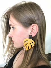 MY MONSTERA (Martina Marekova Kuipers) Tags: monstera nature leaf earrings fashion slowfashion bartinki handmade handmadedesign fashioncollection