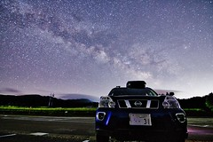 Milky Way Chasing with My X-trail IMG_0341 (armada_rider_jp) Tags: milkyway astroscape nightshot nightscape car nissan xtrail stars sky 天の川