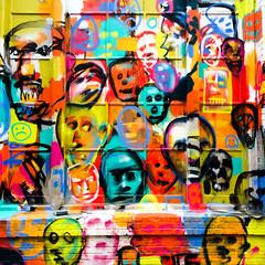 Faces and Names (Thomas Hawk) Tags: america california sanfrancisco usa unitedstates unitedstatesofamerica graffiti us fav10 fav25