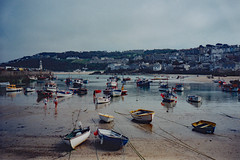 Flashbacks to 1997: St. Ives harbour (Can Pac Swire) Tags: stives cornwall cornish westcountry england english britain british great uk unitedkingdom 1997img0045 harbour harbor