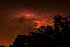 Summer '18 (R24KBerg Photos) Tags: neighborhood night clouds electricity 2018 canon weather summer nature nc northcarolina wintervillenc sky lightning storm