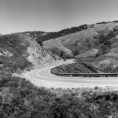 Pacific Coast Highway (Scott Holcomb) Tags: pacificcoasthighway sonomacoast jenner california kowa13555mmlens zenzabronica67mmso56•2cya3filter fujineopanacros100 mediumformat 6x6 120film epsonperfectionv600 photoshopdigitalization