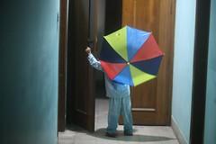 Batthi's Corridor Suspense (N A Y E E M) Tags: umar kalam son umbrella corridor 1stfloor home availablelight indoors rabiarahmanlane chittagong bangladesh sooc pyjamas colors midnight uma lulu