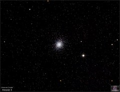 Globular Cluster Messier 5 in Serpens (The Dark Side Observatory) Tags: tomwildoner night sky deepsky space outerspace skywatcher telescope 120ed celestron cgemdx asi190mc zwo astronomy astronomer science canon canon6d deepspace guided weatherly pennsylvania observatory darksideobservatory stars star leisurelyscientist leisurelyscientistcom tdsobservatory backyardeos m5 messier serpens globularcluster globular june 2018 astrometrydotnet:id=nova2651071 astrometrydotnet:status=solved