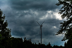 Windmill (b_hanakam) Tags: cloudy cloud cloudscape tree trees windmill power wind windy storm dark contrast summer springtime landscape landscapes background forest cold
