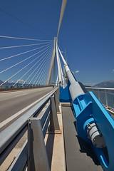 Rio–Antirrio Bridge (Thomas Mülchi) Tags: patras rio westgreece greece charilaostrikoupisbridge gulfofcorinth peloponnese antirrio bridge architecture blue bluesky clear clearsky sky sun sunny gr 2017