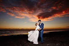 Amy & Dave (LalliSig) Tags: wedding winter iceland people portrait portraiture sunset red sky