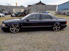 Audi A8 (911gt2rs) Tags: treffen meeting show event tuning tief low stance slammed howdeep aachen custom limousine sedan d2 4d s8 airride fahrwerk airlift dunkelblau blue blau