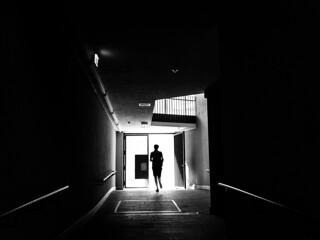 run into the light