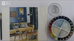 draw1 (proart1studio) Tags: watercolor draw sketch painting drawing art design interior sofa