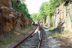 onthetrackbalance (FAIRFIELDFAMILY) Tags: winnsboro train depot station granite blue fairfield county sc south carolina sunflower field jason taylor grant yellow pretty outside farm farming nature young old architecture stone brick building store town southern living garden gun fun flower flowers summer life boy warehouse tracks rail railroad walking exploring explore greenbrier cut pass rural