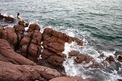 Rock (MelindaChan ^..^) Tags: guangxi china 廣西 rock water sea chanmelmel mel tide splash wave lady melinda melindachan 防城港 怪石灘
