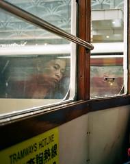 """another hard day's evening ..."" (hugo poon - one day in my life) Tags: fujifilmcardiaminitiara film kodakportra400 hongkong sheungwan desvoeuxroad tram longday tired exhausted reflections window"