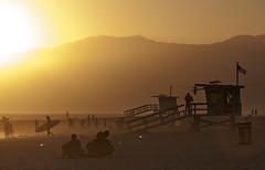 (briyen) Tags: venice beach la sunset golden glow smog haze california life