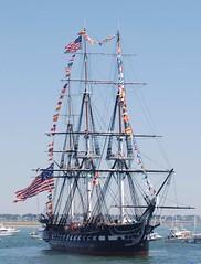 USS Constitution (jelpics) Tags: navy naval warship frigate ussconstitution tallship mast rigging boat boston bostonharbor bostonma harbor massachusetts ocean port ship sea vessel
