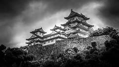 Himeji Castle (姫路城) (Black & White) (Gerald Ow) Tags: 姫路城 geraldow himejicastle sony a7rii a7rmk2 fe 2470mm f28 gm gmaster blackandwhite bw monochrome landscape travel ilce7rm2 japan 日本 cloud