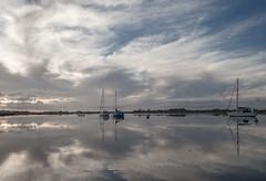 Grey Skies (Visible Landscape) Tags: uk england westsussex bosham boats tranquil calm