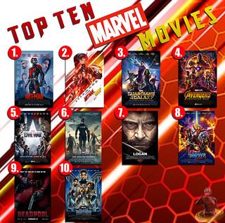 Top Ten Marvel Movies