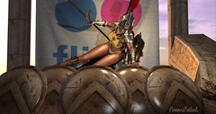 this IS flickrrrrr (Fawn Fatal) Tags: female warrior sparta ancient ruins armor noble forge poseidon rogue gladiator champion legend gold fantasy roleplay