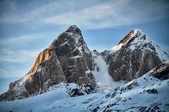 Caucasus: Two Peaks of Svaneti. (icarium.imagery) Tags: canoneos7d canonefs18135mmf3556is travel caucasus clouds georgia highaltitude mountainrange mountaineering mountains tusheti peaks glacier snow mestia svaneti sundaylights