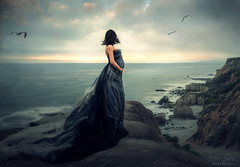 Siren ({jessica drossin}) Tags: woman jessicadrossin portrait pregnancy pregnant maternity motherhood cliffs ocean sea clouds wwwjessicadrossincom