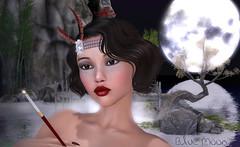 Suzu - blue Moon (Alea Lamont) Tags: ndmd suzu asian skins vintage fair vista bento head diana japanese teenager chinese woman girl thai female korean shapes 1920 maitreya body iconic betty hair