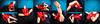 Red Skirt (llbdevu) Tags: red skirt blue black tan skin color shiny tight tights boy men costume posing flexing contortion encasement gloves leotard zentai catsuit tutu feet socks ballet bodysuit