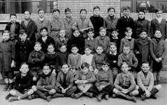 Class photo (theirhistory) Tags: children kids boys pupils students school class form group jacket shorts shoes wellies jumper coat rubberboots