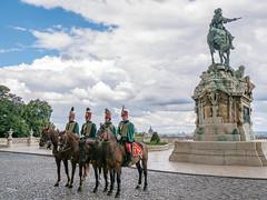 4+1 Horsemen of Buda Castle (un2112) Tags: budacastle budaivár budapest horse huszár ló statue szobor g80 summer hungary june men workers