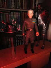 Grand Moff Tarkin with Death Star Droids Star Wars 4050 (Brechtbug) Tags: peter cushing grand moff tarkin with death star droid k2so or kaytuesso interrogation wars action figure toy toys villain villains 1964 1960s 60s 1977 1970s 70s movie film science fiction scifi spy adventure hot forbidden planet comics store nyc 2018 comicbook rogue one a new hope