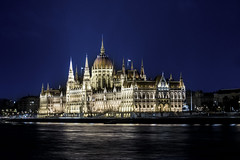 Budapest, Hungary, nightime view of Parliament Building along the Danube (Cat Girl 007) Tags: budapest hungary europe danube night parliamentbuilding national landmark hungarian old urban tourism sky river travel city building capital architecture famous water gothic riverside cityscape destination outdoor twilight architectural exterior editorial