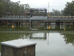 Reconstructing the Barham-Koondrook Lifting Bridge, NSW (Diepflingerbahn) Tags: barham koondrook liftingbridge victoria nsw rivermurray sirjohnmonash construction tiefbau civilengineering