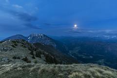 Hochobir under the Full Moon (manuel.thaler) Tags: freiberg mountain range hill peak snowcapped ridge landscape rolling valley rock hochobir full moon carinthia austria kärnten