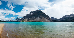 Bow Lake (Parker Vandermeer) Tags: 2018 alberta bowlake canada hiking icefields jasper lake mountain nationalpark panorama r2 rockies summer