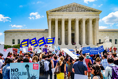 2018.06.26 Muslim Ban Decision Day, Supreme Court, Washington, DC USA 04041